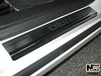 НАКЛАДКИ НА ПОРОГИ (STANDART) CHEVROLET CRUZE 4D / 5D 2008- / 2011-