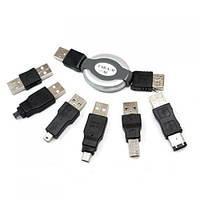 Набор USB переходников 7 в 1 Firewire 1394 AM BM. Хорошее качество. Доступная цена. Дешево. Код: КГ3527