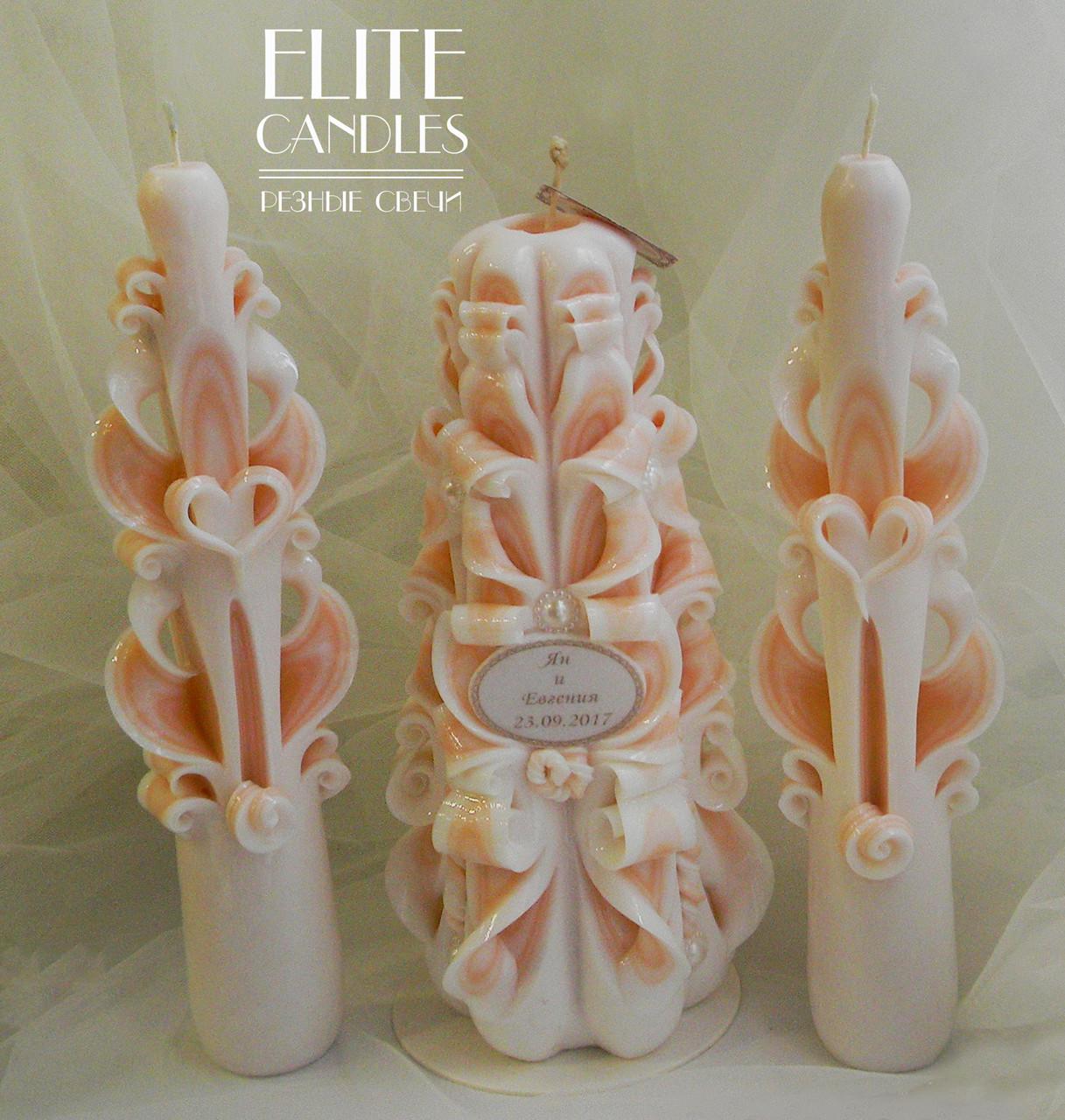 Свадебные свечи именные