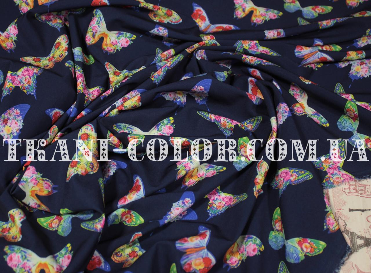 Ткань супер софт принт бабочки