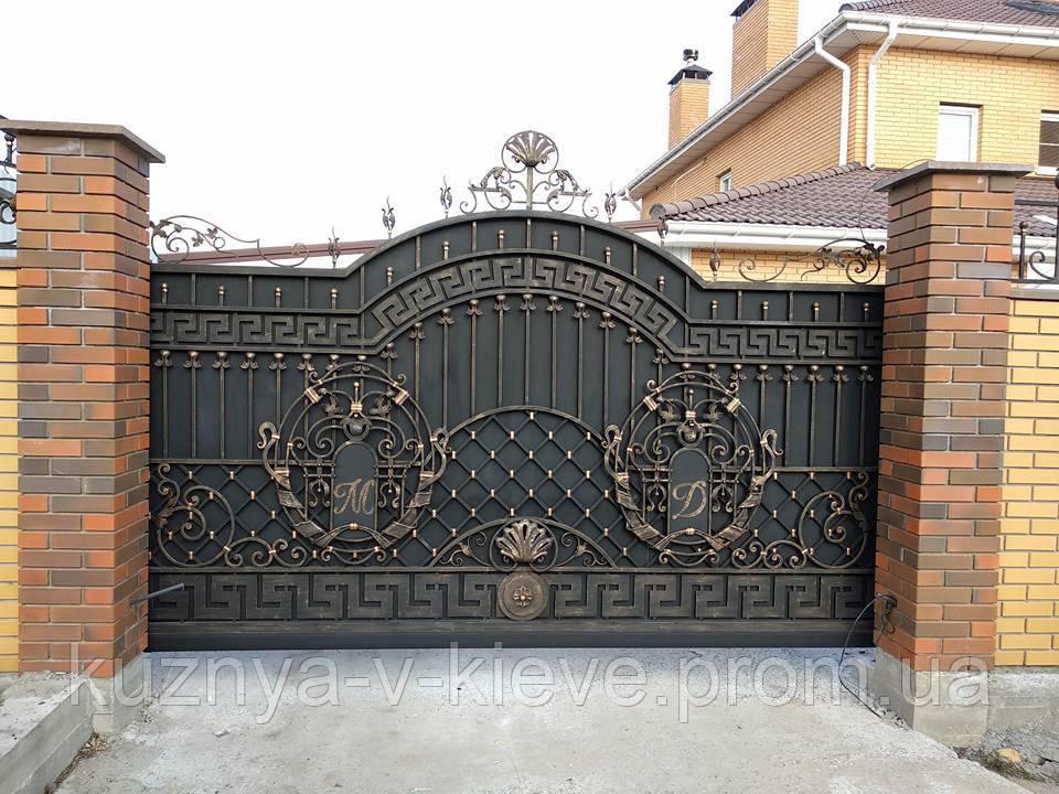 Кованые ворота 0022