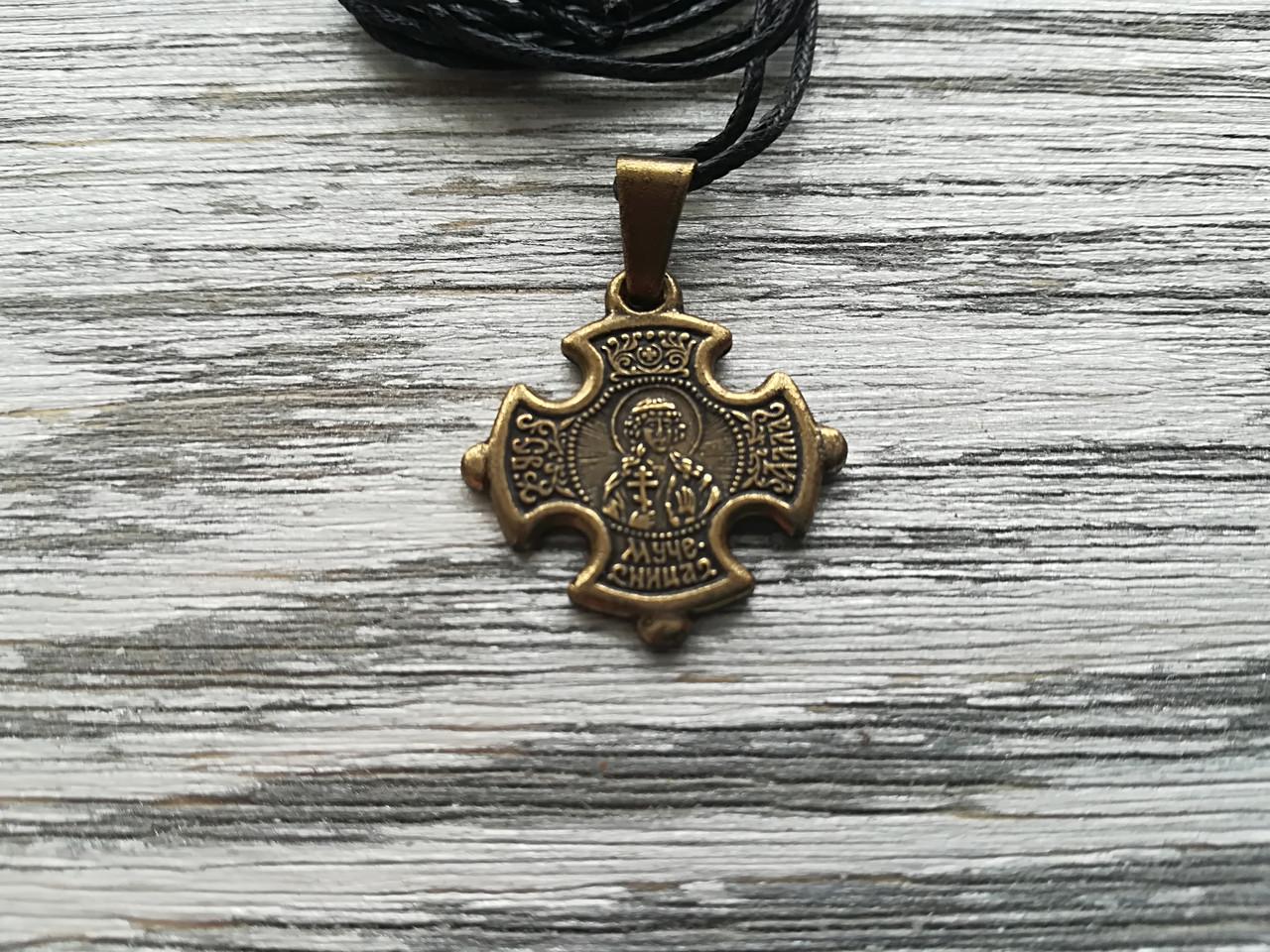 Алла Именной Нательный Крест Женский Православный  Медненный размер 30*22 мм