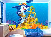 """3D фотообои детские """"Акула"""""""