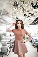 Женское платье с юбкой кожа