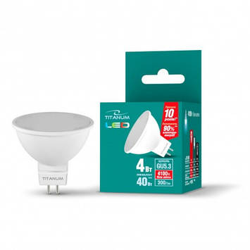 LED лампа TITANUM MR16 4W GU5.3 4100K 220V (ТL-MR16-4534), фото 2