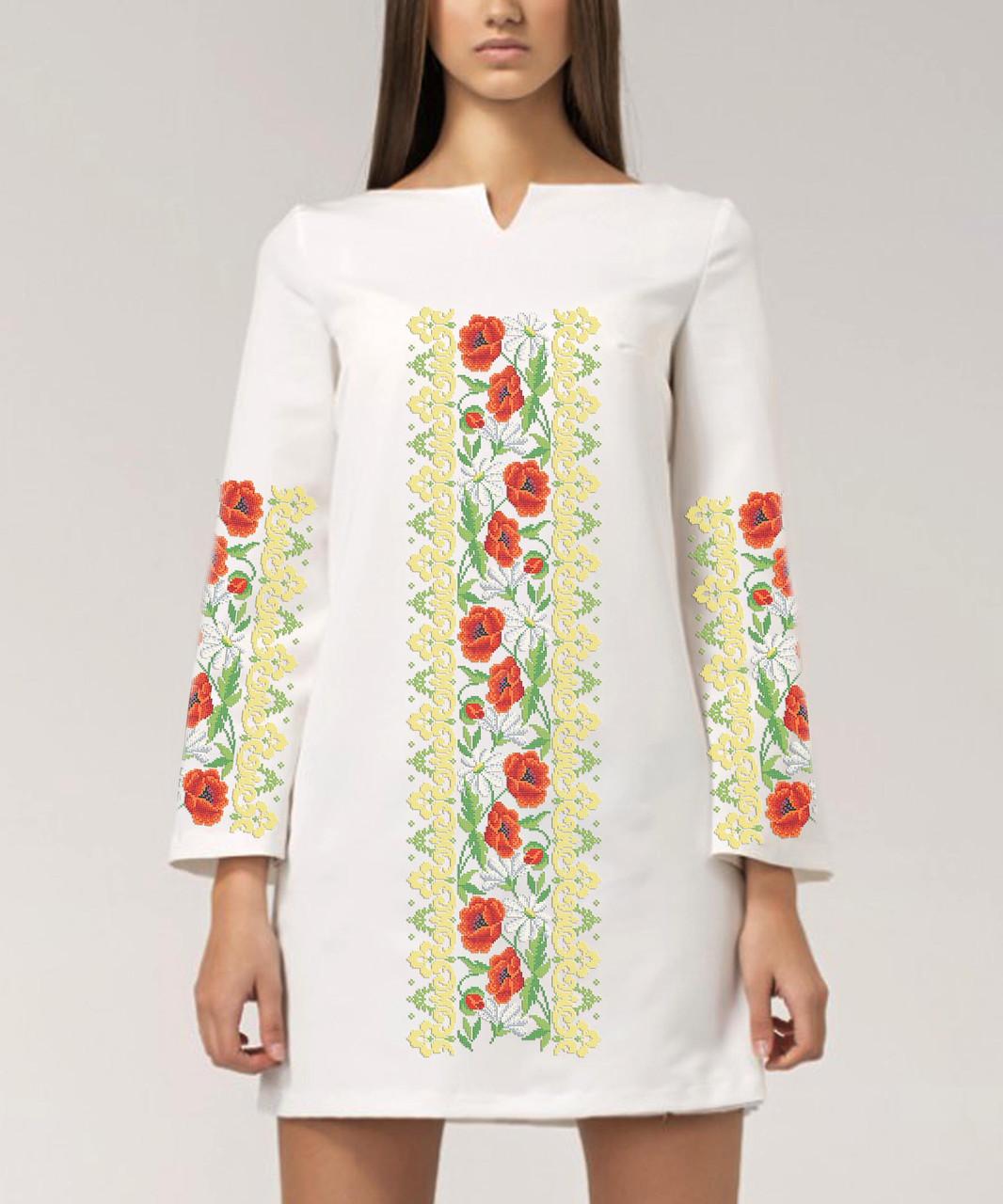 Заготовка жіночого плаття чи сукні для вишивки та вишивання бісером Бисерок  «Багате» (П-109 )