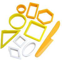 Формочки для песка Waba Fun Геометрические предметы (193-111)