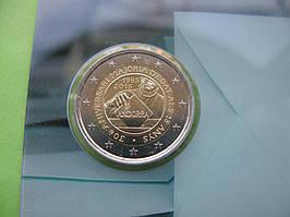 Андорра 2 евро 2015 г. 30-летие принятия возраста совершеннолетия в 18 лет