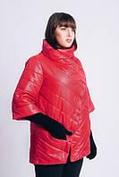 Женская куртка, рукав 3/4, большого размера осень-весна 54-66 рр красный