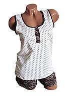 Комплект майка и шорты. Пижама хлопковая женская.