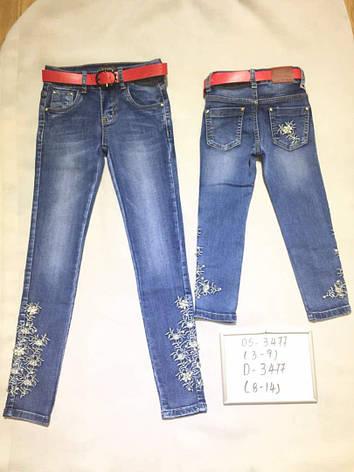 Детские джинсы для девочки 3-9 лет, фото 2