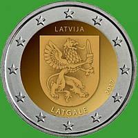 Латвия 2 евро 2017 г. Историческая область Латгале . UNC