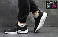 Кроссовки мужские Nike Air Presto, материал - текстиль, черные с белым