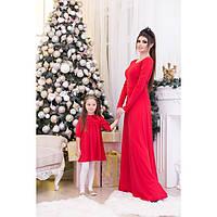 Комплект праздничных платьев для мамы и дочки №3010