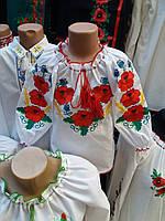 Вышиванка блуза  для девочки  90101ж ( C.Р.Б.)