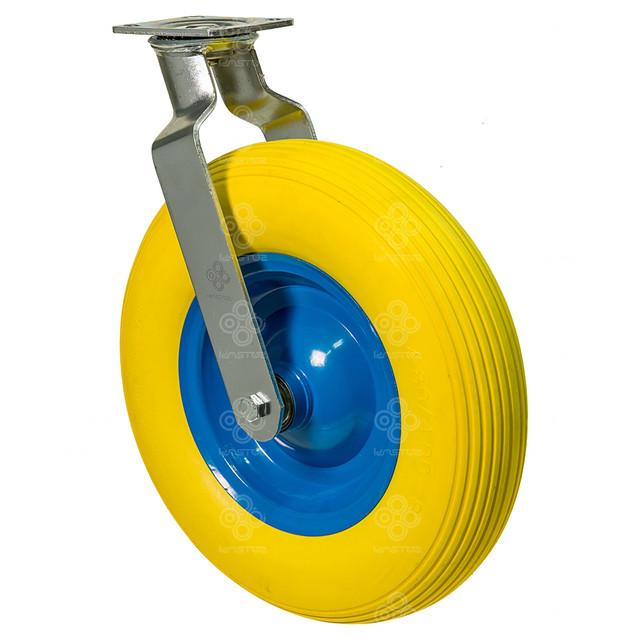 Колесо поворотное с крепежной панелью