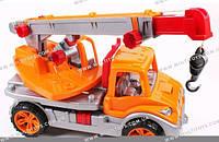 Машина Автокран оранж. Технок /4/(3695)