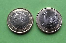 Бельгия 1 евро 1999 г. (есть 2002,2003) UNC.