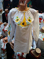 Вышиванка блузка  для девочки  88101А ( C.Р.Б.)