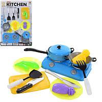 Посуда 1002-3 плита, сковородка, кухонный набор, продукты