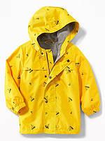 Детская жёлтая курточка дождевик в парусники Old Navy для мальчика