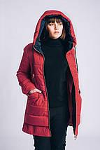 Женская весенняя куртка большого размера 54-66рр красная, фото 2