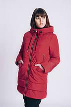 Женская весенняя куртка большого размера 54-66рр красная, фото 3