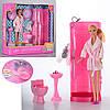 Кукла DEFA 8215  ванная комната, аксессуары, в кор-ке, 36,5-34,5-11см