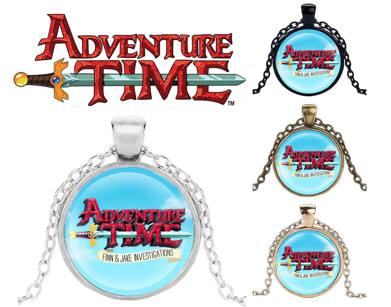 Кулон Adventure time Финн и Джейк ведут следствие Время приключений