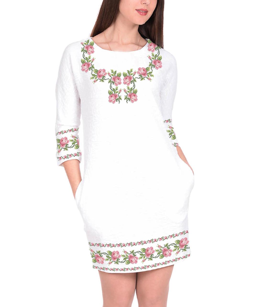 Заготовка жіночого плаття чи сукні для вишивки та вишивання бісером Бисерок  «Ніжність» (П-100 )