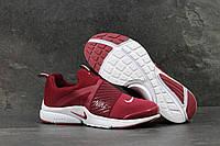 Nike Air Presto кроссовки мужские бордовые текстиль Вьетнам
