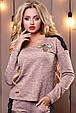 Стильный женский свитшот-кофта 2504 персиковый, фото 3