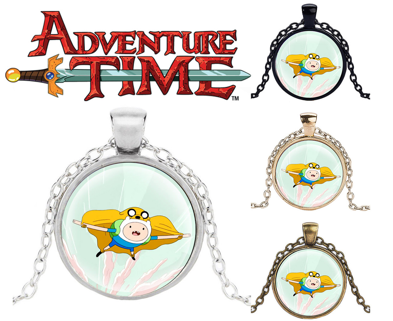 Кулон Adventure time Финн и Джейк Время приключений