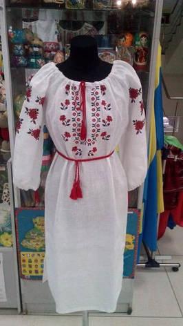 Женское вышитое платье,лен, фото 2
