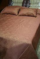 Покрывало - накидка на кровать (терракот)