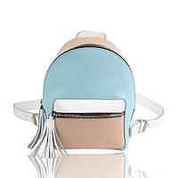 Рюкзак кожаный трехцветный матовый, фото 1