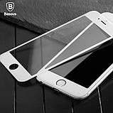 Защитное противоударное стекло Baseus 0.23 PET Soft 3D (SGAPIPH8N-PE02) IPhone 8/7 White, фото 3