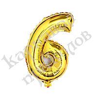 Шарик Цифра (80см) золото 6