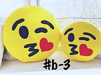 Подушка-смайлик Emoji Smile КОМПЛЕКТ (большая+маленькая) №3