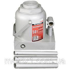 Домкрат гідравлічний пляшковий, 50 т, h підйому 236-356 мм// MTX MASTER