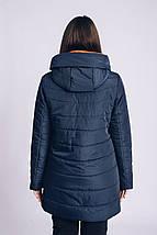 Женская весенняя куртка большого размера 54-66 рр синий, фото 3
