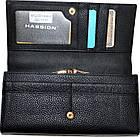 Женский кошелек из натуральной кожи Hassion (10.5x19.5) , фото 3