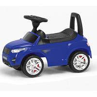 Детская машина-каталка RR муз. свет Синий  2-006