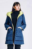 Женская весенняя куртка большого размера 54-66 р  бирюза
