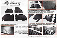 Renault Kangoo 2008 резиновые полики стингрей бюджет передние