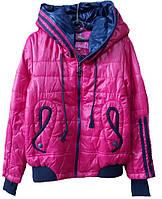 Куртка стильная, р. 128-158, малиновый