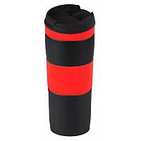 Термокружка вакуумная, металлическая, красная, 400 мл