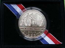 США 1 доллар 2010 г. Американские ветераны-инвалиды. UNC
