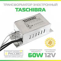 Электронный понижающий трансформатор TRA25 60W Taschibra AC 12V для галогенных ламп (15-60Вт 12В), фото 1
