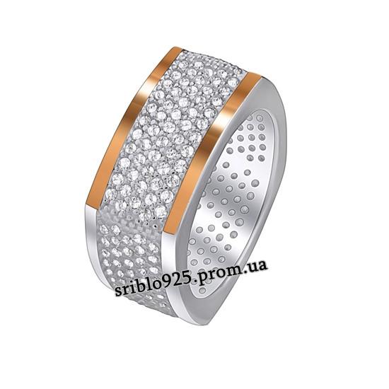 Кольцо из серебра с цирконием